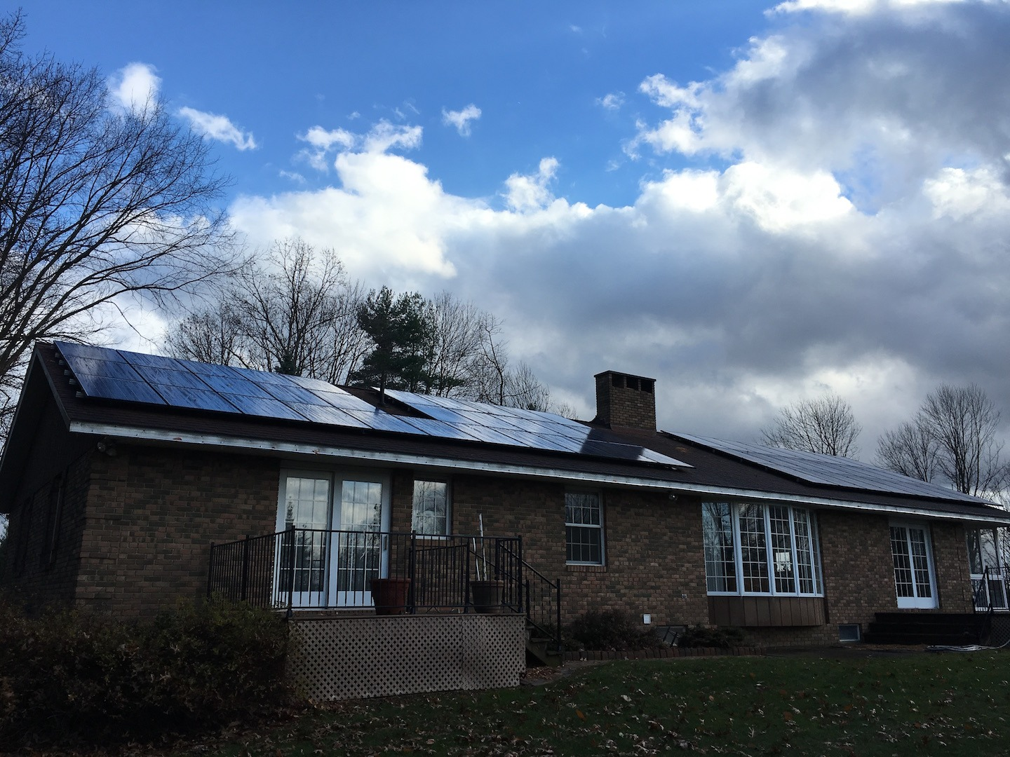 residential solar panels on home