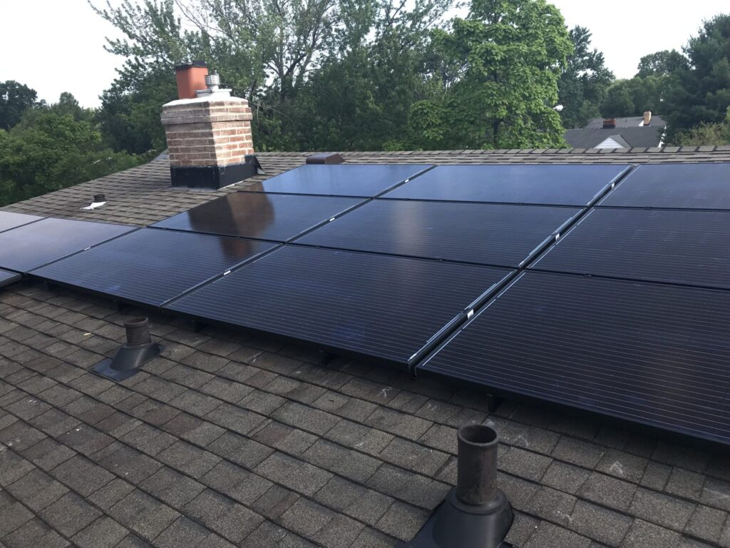 Solar Panels on a Roof in Cleveland, Ohio